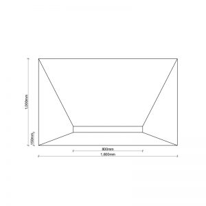 PCS LInear 1600x1000 Wetroom Shower Tray Dimensions