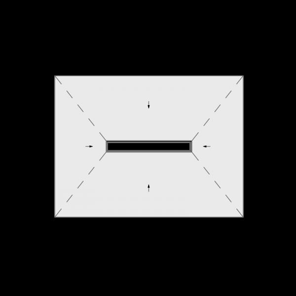 Jackoboard Aqua Line Easy 1200×900 Centre Linear